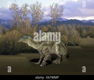 Dinosaurier Tenontosaurus tilletti / dinosaur Tenontosaurus tilletti - Stock Image