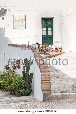 Brick wall by house in Spain - Stock Image
