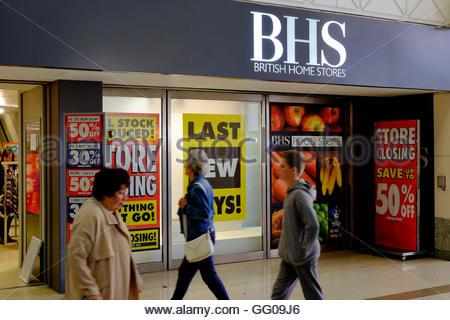 Nottingham, England, 3 August 2016  BHS Nottingham closes today Credit:  M-dash/Alamy Live News - Stock Image