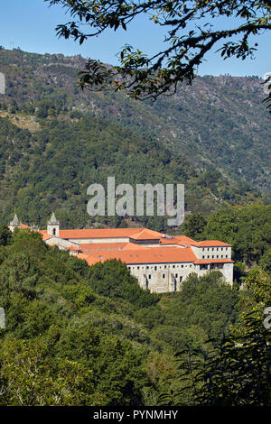 Monasterio de Santo Estevo (now a Parador) in the valley of the Río Sil. Galicia, Spain. - Stock Image