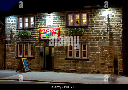 The Old Cock, a real ale pub in Otley, West Yorkshire, England UK - Stock Image