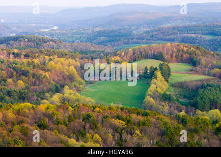 The view south from Black Mountain in Dummerston Vermont. - Stock Image