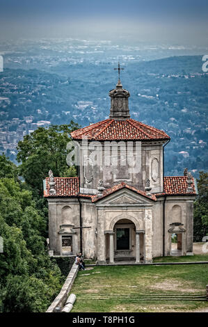 Italy Lombardy Unesco World heritage Site - Sacro Monte di Varese ( Varese sacred Mount ) XIV Chapel - the Assumption of Mary to Heaven XIV Chapel - Stock Image