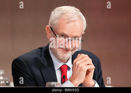 Jeremy Corbyn addressing the Labour Party Women's Conference in Telford, UK - Stock Image