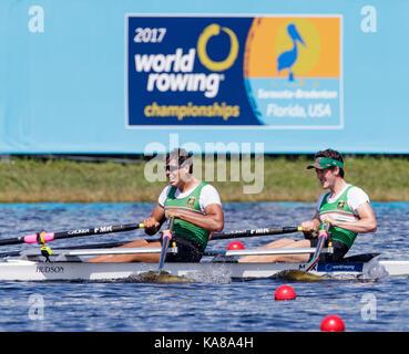 Sarasota-Bradenton, Florida, USA. 25th Sep, 2017. Diego Sanchez Sanchez and Juan Florez Rodriguez of team Mexico - Stock Image