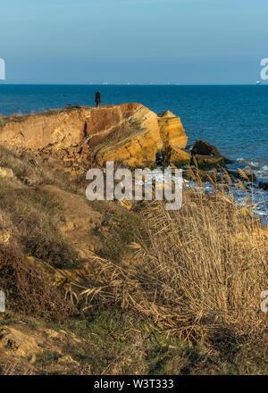 Warm late autumn day on the seashore near the village of Fontanka, Odessa region, Ukraine - Stock Image
