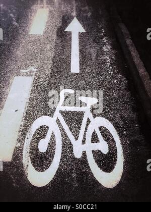 Cycle road. - Stock Image