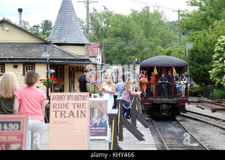 New Hope and Ivyland Railroad, New Hope, PA, USA - Stock Image