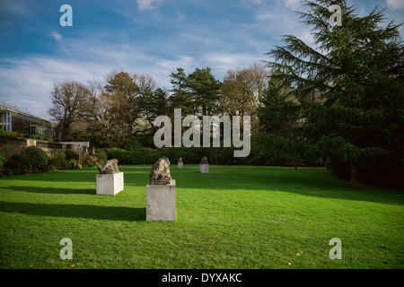 Sculptures at the Yorkshire Sculpture Park near the Underground Gallery. - Stock Image