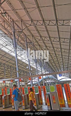 interior of Rossio railway station Lisbon Portugal - Stock Image