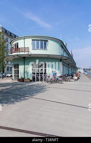 The Standard, restaurant, former Gammelholm Toldkammer (customs house), designed by Kristoffer Varming, 1937; Copenhagen, Denmark - Stock Image