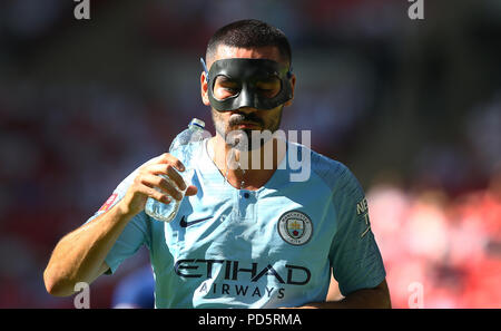 Ilkay Gundogan of Mancheseter City during the FA Community Shield match between Chelsea and Manchester City at Wembley Stadium in London. 05 Aug 2018 - Stock Image