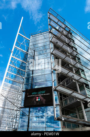 Sanoma Media Corporation Headquarters in the Sanomatalo building in Helsinki Finland. - Stock Image