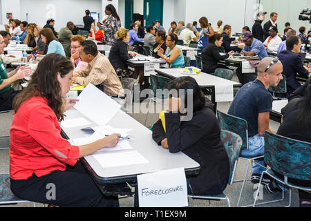 Miami Florida Dade College Wolfson Campus Homeowners Legal Assistance Program free lawyer help economic crisis real estate - Stock Image