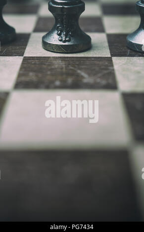 Detail of a chessboard - Stock Image