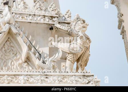 Garuda detail at Wat Mahathat Worawihan Temple, Phetchaburi, Thailand - Stock Image