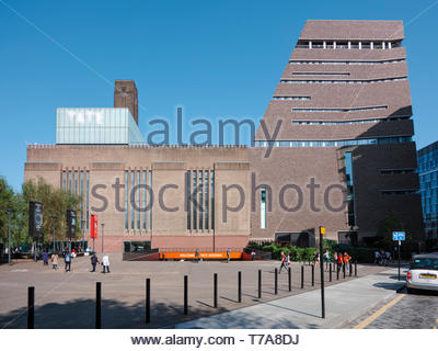 The Switchhouse extension and Tate Modern building: Bankside, London. - Stock Image