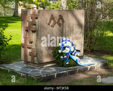 Memorial of the Finnish Karelian loved ones whose graves were left in the territory of Karelia that was robbed from Finland by Stalin's Soviet Union. - Stock Image