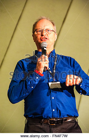 Liverpool, England UK, Sunday 13th March 2016. Robert Llewellyn & Danny John-Jules co-stars in Red Dwarf talk - Stock Image