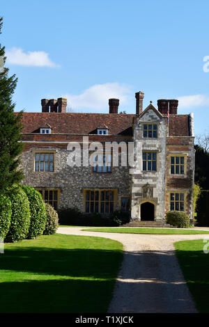 Chawton House Library, formerly owned by literary icon Jane Austen's brother Edward, Chawton, near Alton, Hampshire, UK. - Stock Image