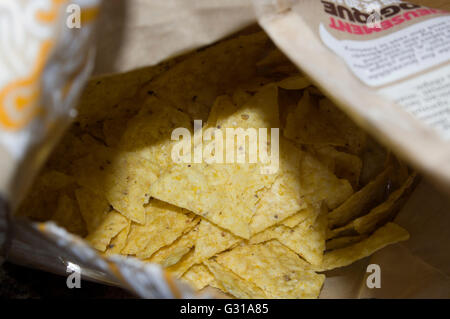 taco  chips in a bag,,chips - Stock Image