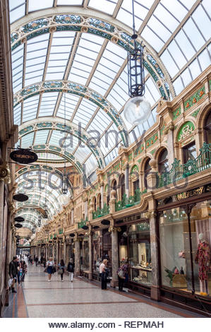 The County Arcade inside the Victoria Quarter in Leeds West Yorkshire England - Stock Image