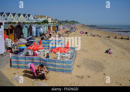 beach walton on the naze - Stock Image
