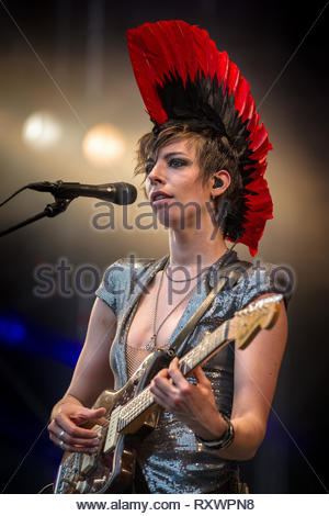 MADEMOISELLE K (Katerine Gierak) performing live, 16 july 2011 - Stock Image