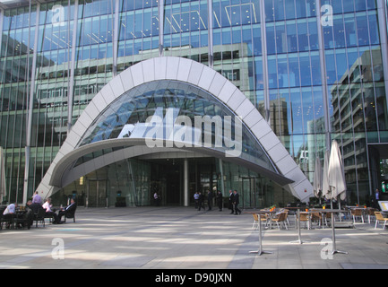 Entrance to Citypoint office building Ropemaker Place London - Stock Image
