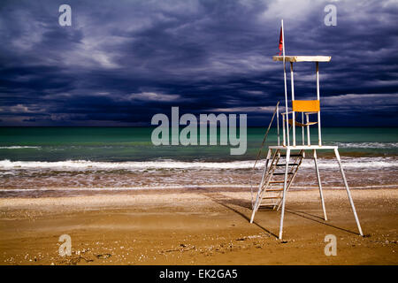 Lifeguard station, Senigallia, Marche, Italy - Stock Image