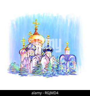 Typical orthodox church - Stock Image