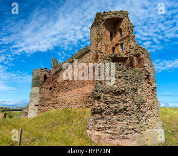 The East Tower and Curtain Wall, Tantallon Castle.  Near North Berwick, East Lothian, Scotland, UK - Stock Image