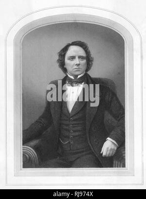 CHARLES KEAN Actor and son of Edmund Kean - Stock Image
