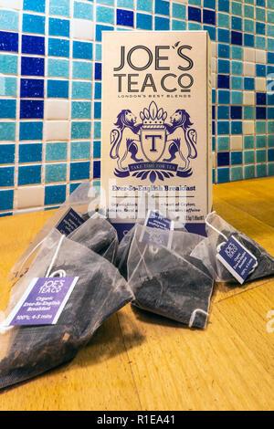 Speciality Tea,Joes Tea Co,English Breakfast Tea - Stock Image