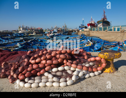 Fishing harbour at Essaouira Morocco - Stock Image