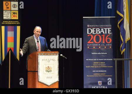 Hempstead, New York, USA. September 13, 2016. DAVID AXELROD, CNN Senior Political Commentator and Democratic strategist - Stock Image
