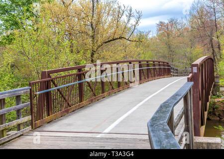 Trail Over Bridge - Stock Image