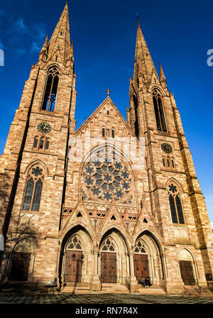 Strasbourg, Alsace, France, St Paul protestant church, Neustadt district, - Stock Image