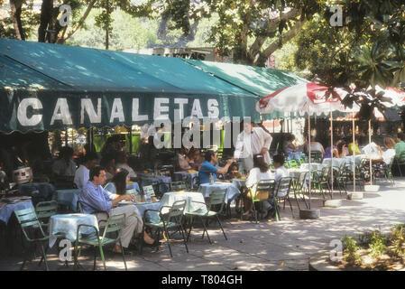 Alfresco cafes, Madrid, Spain, Europe - Stock Image
