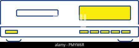 Media player icon. Thin line design. Vector illustration. - Stock Image