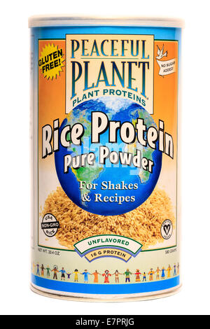Peaceful Planet brand unflavored Rice Protein Pure Powder - Stock Image