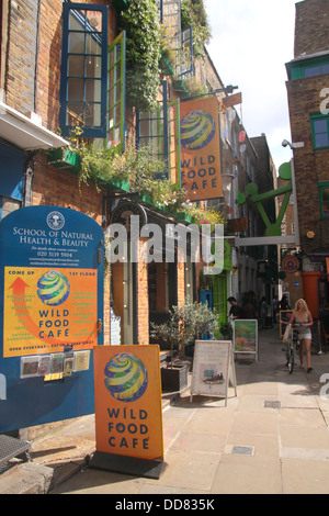 Wild Food cafe Neal's Yard Covent Garden London - Stock Image