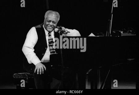 Ray Bryant, Brecon Jazz Festival, Brecon, Wales, Aug 2002. - Stock Image