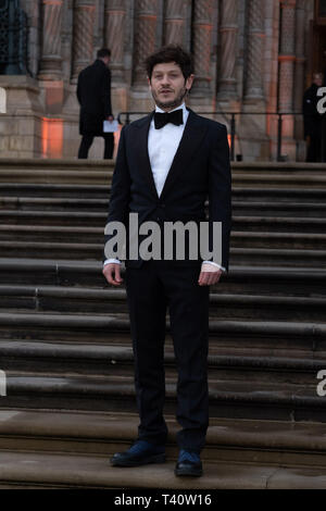 Iwan Rheon attends The global premiere of Netflix's OUR PLANET on Friday 5 April 2019 at The Natural History Museum, London. . Picture by Julie Edwards. - Stock Image