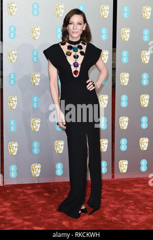 London, UK. 10th Feb, 2019. LONDON, UK. February 10, 2019: Cate Blanchett arriving for the BAFTA Film Awards 2019 at the Royal Albert Hall, London. Picture: Steve Vas/Featureflash Credit: Paul Smith/Alamy Live News - Stock Image