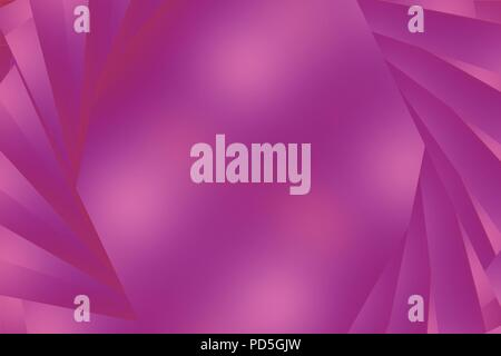 A purple pink colored abstract or textured background with stripes appearing to open to copy space - Stock Image