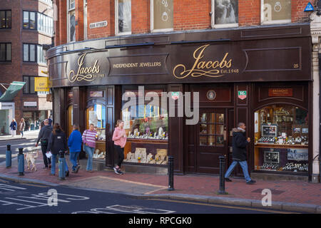 An independant Jewellers shop in Reading, Berkshire. - Stock Image