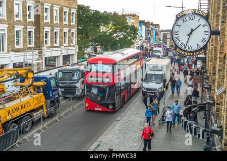 Camden High Street,Camden Lock Market,London,England - Stock Image