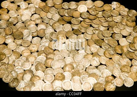 Pile og old coins - Stock Image