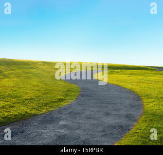 curve path in s-shape - Stock Image